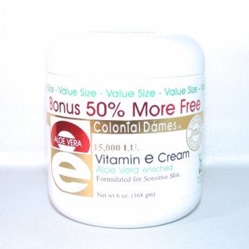 Colonial Dames Vitamin E & Aloe Cream 6 Ounce 15000 IU