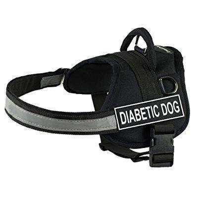 dt works harness, diabetic dog, black/white, large - fits girth size: 34-inch to 47-inch