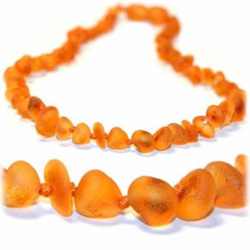 The Art of Cure Original Premium Baltic Amber Teething Necklace 12.5 inches (Raw Chip)