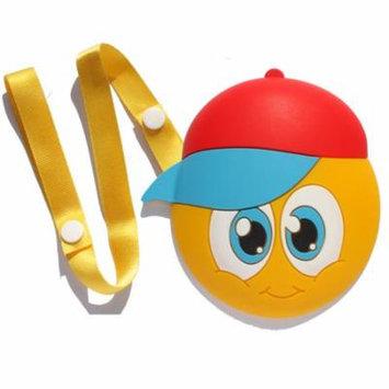 Chompies Baseball Hat Little Dude Baby Toy Infant Teething Teether Yellow Smiley Face Emoji Lanyard