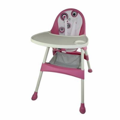 2-in-1 Convertible High Chair in Pink
