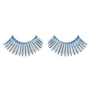 zinkcolor blue foil false eyelashes c007 dance halloween costume