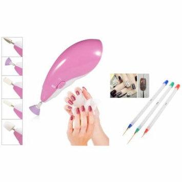 Zodaca 3PCS Nail Art Pen Drawing UV Gel Liner Brush+Electric Nail Art Salon Machine Pedicure Drill File Kit (2-in-1 Accessory Bundle) Gel Nail Kit