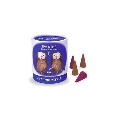 Nippon Kodo Cassis & Mocha Cafe Time Incense Cones 10 incense cones