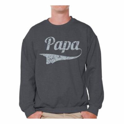 Awkward Styles Men's Papa Graphic Sweatshirt Tops Vintage Father`s Day Gift Best Dad Ever Papa Gift