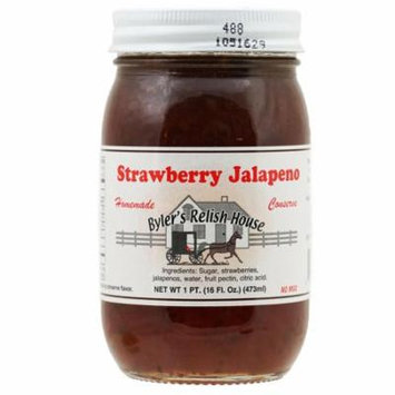 Byler's Relish House Homemade Amish Country Strawberry Jalapeno Conserve 16 oz.