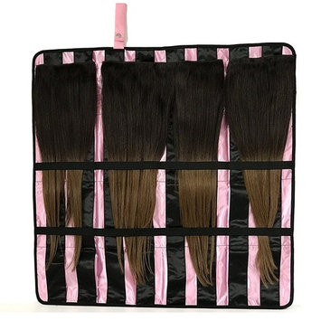Portable Hair Extension Holder with Flexible Hanger - the All-in-One Storage and Carrying Case for Organizing and Styling Your Clip-In, Tape-In, Human & Synthetic Hair - Great for Travel! []