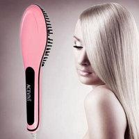 ACEVIVI Digital Electric Hair Straightener Comb Heating Detangling Hair Brush EU/US/UK/AU Plug BTC