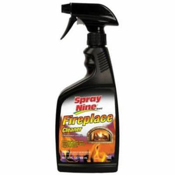22 OZ Spray Nine Fireplace Cleaner All In One Fireplace Glass and Wood S 2PK