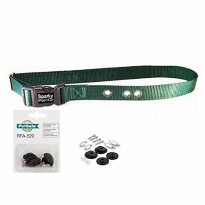 Sparky PetCo 1 inch GREEN Replacement collar strap/w 529 kit, Green