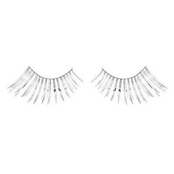 zinkcolor sparkling silver foil false eyelashes c010 dance halloween costume