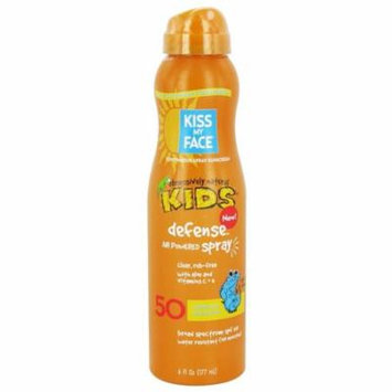 Kiss My Face - Kids Defense Sunscreen with Any Angle Air Power Spray 50 SPF - 6 oz.(pack of 2)
