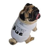 ruff ruff and meow dog tank top, what the pug?, white, medium