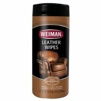 Weiman Leather Wipes Canister For All Leather Furniture 2PK