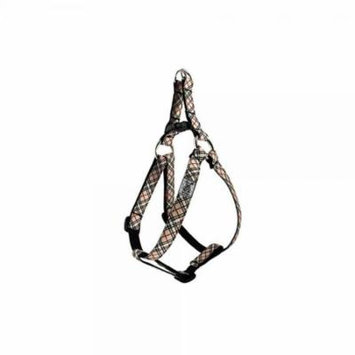 rc pet products 5/8 step in dog harness, small, tan tartan