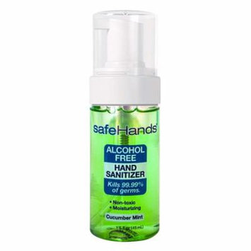 SafeHands #1 Alcohol Free Foam Hand Sanitizer Brand - hydrating, skin-soothing, foam-based, non-toxic hand sanitizer kills more than 99.99% of germs