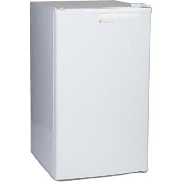 Grape Solar Glacier 3.7 cu. ft. Mini Refrigerator in White with DC/AC Adapters GS-UF-3.7-Fab1