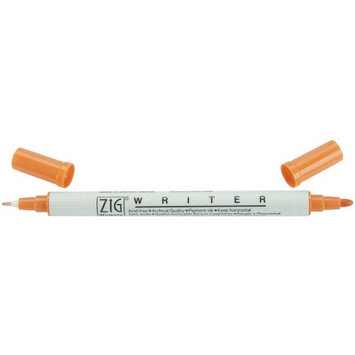 Notions Zig Memory System Writer Dual Tip Marker, Pure Orange