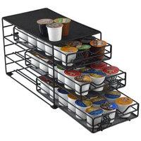 Southern Homewares SH-10046 3 Tier Keurig K-Cup Storage Drawer Coffee Holder for 54 K-Cups, Black
