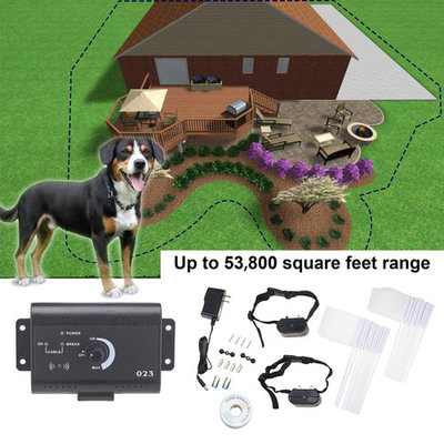 Underground Waterproof Electric Dog Fence System 2 Shock Collars for 2 Dogs