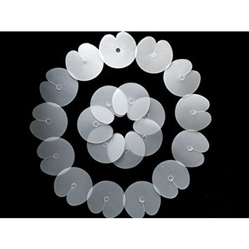20 Pcs Single Hole Clare Fushion Glue Protector Template for Fusion Human Hair Extensions