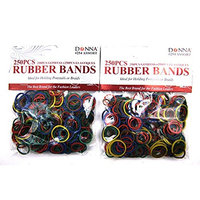 Donna 2 Pack of 250 Pieces Hair Rubber Bands Total 500 Pieces