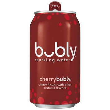bubly Sparkling Water, Cherry, 12 ounce Cans (Pack of 18)