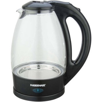 Farberware Glass Kettle, Black