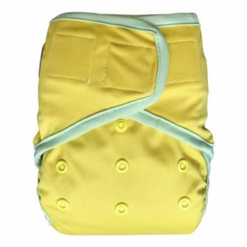 EcoAble Baby Waterproof PUL Cloth Diaper Cover AI2, Hook & Loop (Size 2/ 15-35lb, Yellow)