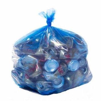 Toughbag Trash Bags 33x39 33 Gal 100/case Garbage Bags 1.2 Mil (Blue)
