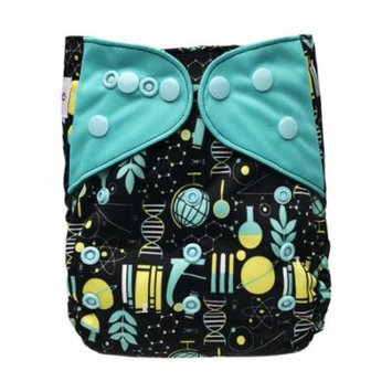 EcoAble Baby Pocket Cloth Diaper, One Size 10-35Lb, Science