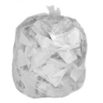 Toughbag Rubbermaid Compatible 44 Gallon Trash Bag 100 Garbage Bags (Clear)