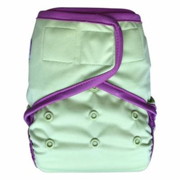 EcoAble Baby Waterproof PUL Cloth Diaper Cover AI2, Hook & Loop (Size 2/ 15-35lb, Green)
