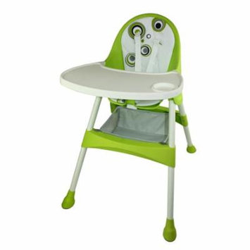 2-in-1 Convertible High Chair in Green