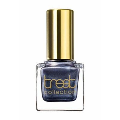 treat collection - Vegan / 5 Free Nail Polish SHIMMERY STARS (Dark Grey Metallic With A Light Blue Undertone)