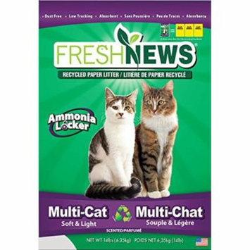 Fresh News Paper Cat Litter Multi-Cat Litter Gray 14 Lb (Pack of 1)