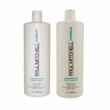 Paul Mitchell Instant Moisture Daily Shampoo 33.8 & Treatment 33.8 DUO