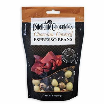 Chocolate Covered Espresso Bean Blend in Premium Chocolate- 8 oz Pouches - by Dilettante (3 Pack)