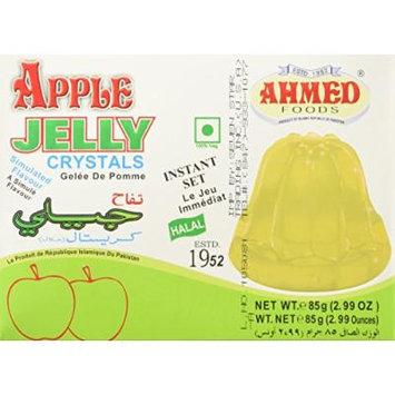 AHMED Halal Jello Vegetarian Crystal Jelly, Apple, 85 Gram (Pack of 12)