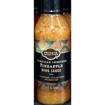Private Selection Hawaiian Inspired Pineapple Wing Sauce 11.8 Oz (Pack of 2)
