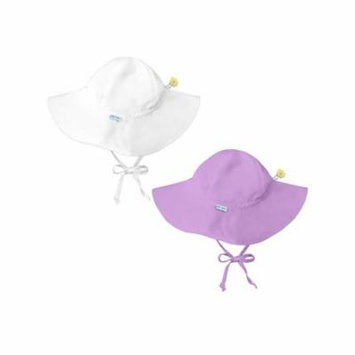 i play Baby and Toddler Brim Sun Protection Hat- White and Lavender - 2 Pack