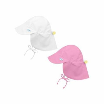i play Baby and Toddler Flap Sun Protection Hat-White and Lt Pink - 2 Pack
