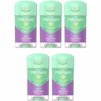 5 Pack Mitchum Women Shower Fresh Gel Anti-Perspirant & Deodorant 2.25 Oz Each