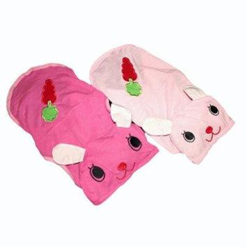 For SMALL Pet Cat Puppy Dog Shirt BUNNY Dress Pajamas Hood Sleeveless Light Pink sz XL (length - 15