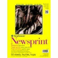 Strathmore 9 x 12 in. 300 Tape Binding Heavy Weight Newsprint Pad, 50 Sheets