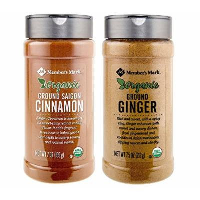 Organic Ground Saigon Cinnamon (7 oz.) and Organic Ground Ginger (7.5 oz) Bundle