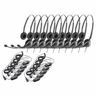 Jabra GN2125 Duo NC Headset & GN1200 Cable w/ ATL Tech & Flexible Boom (10 Pack)