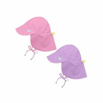i play Baby and Toddler Flap Sun Protection Hat-Purple and Lt Pink - 2 Pack