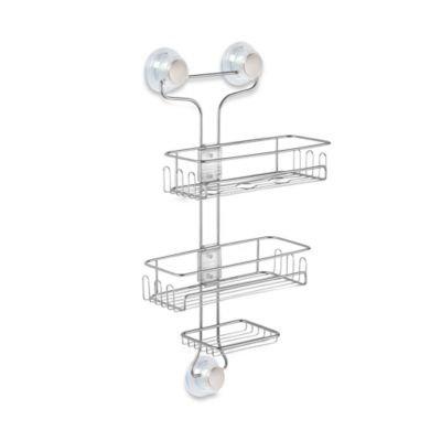 InterDesign Turn-N-Lock 3-Tier Suction Corner Basket