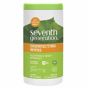 Seventh Generation Disinfecting Wipes Lemongrass Citrus Scent 70.0 ea(pack of 6)
